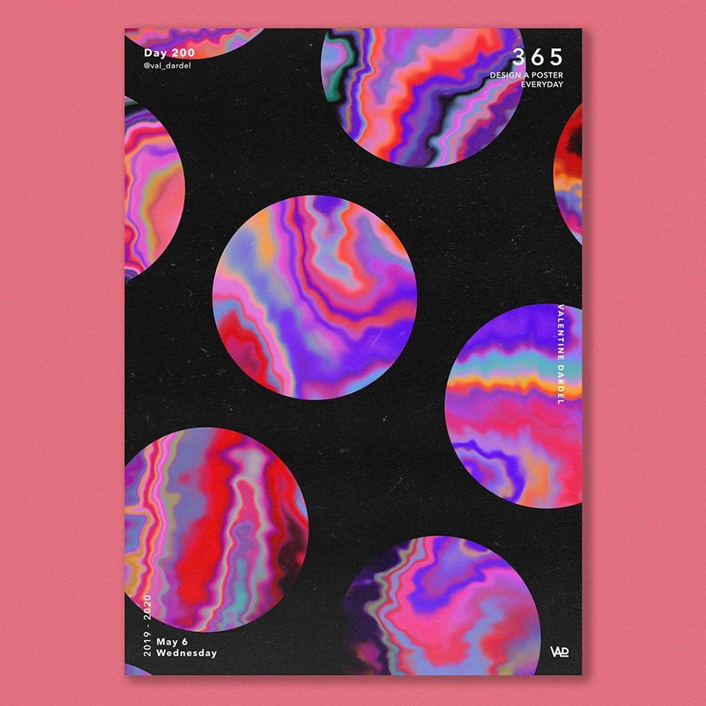 12款创意渐变海报设计