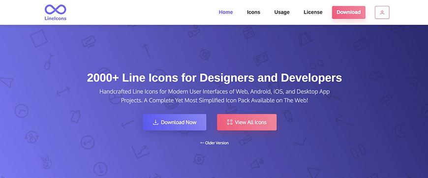 设计神器Lineicons!拥有2000+款高质量线性图标的网站