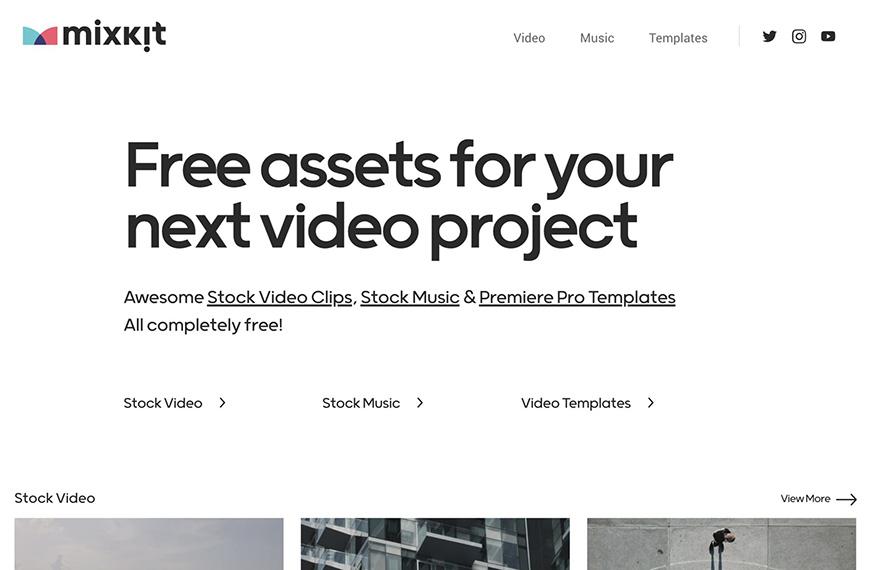 视频剪辑必备的Mixkit!超10,000个可商用的视频、音乐、Pr模板宝库