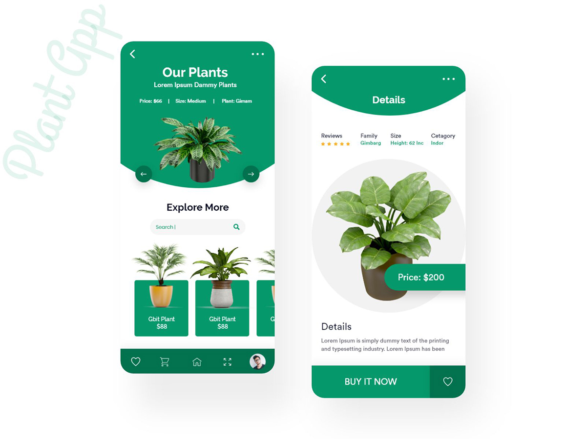 绿色生命力!12组绿植购买App界面设计