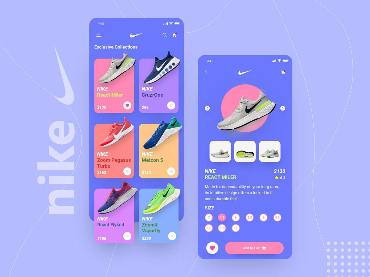 球鞋发烧友!12组运动鞋购物App界面设计