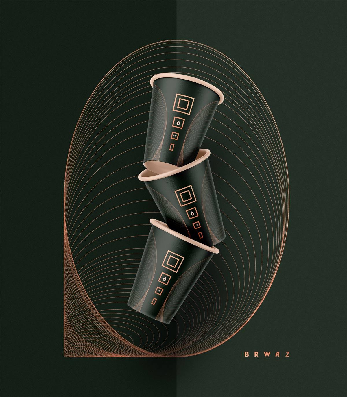 黄金比例!咖啡品牌VI设计