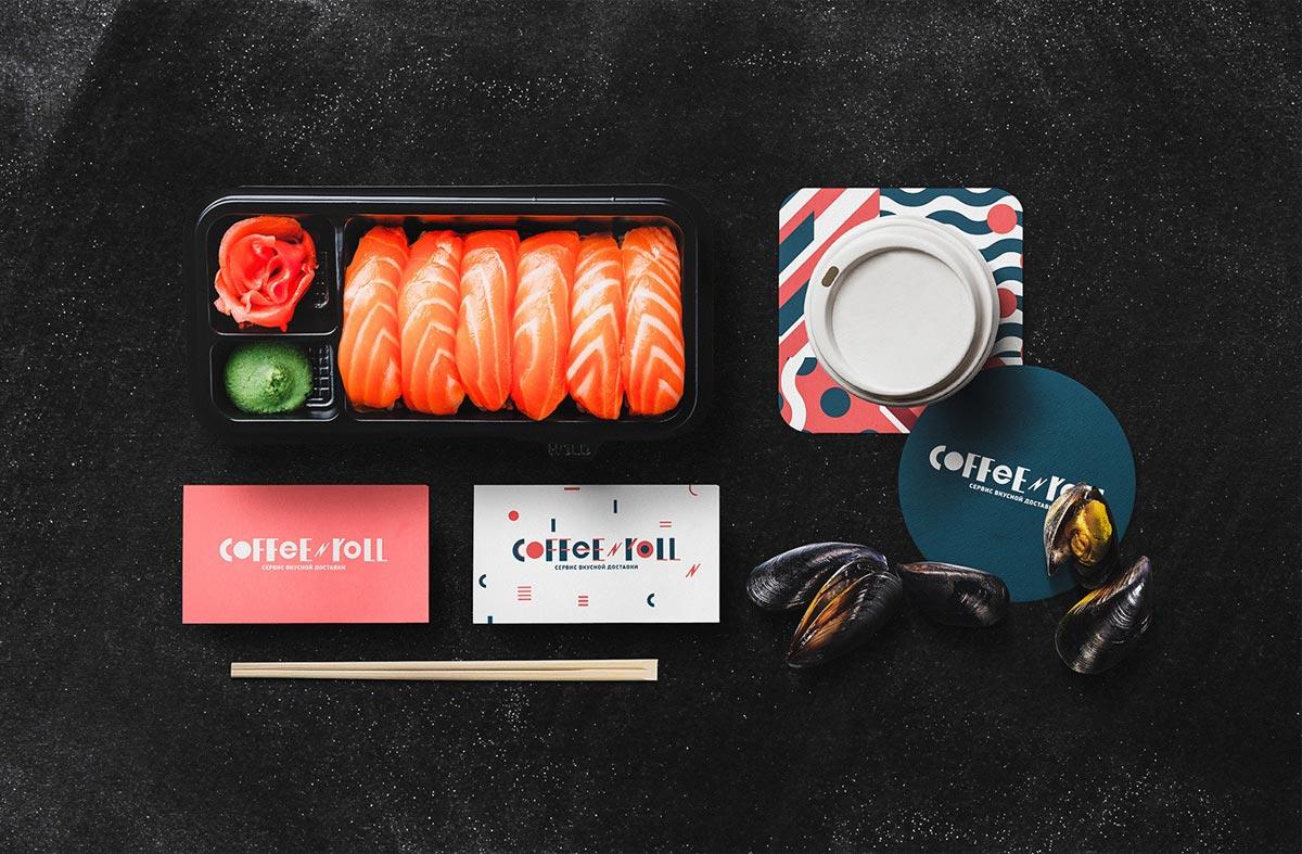 吸睛对比色!寿司外卖品牌VI设计