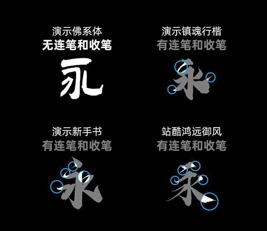 免费字体下载!古典而厚重的书法字体-演示佛系体