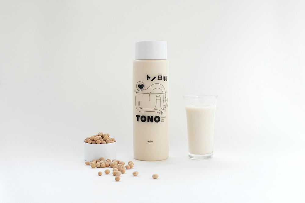 轻甜饮食!豆乳产品VI设计
