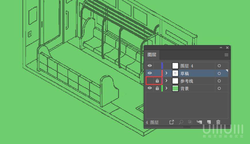 AI教程!手把手教你绘制像素风电车内部场景插画