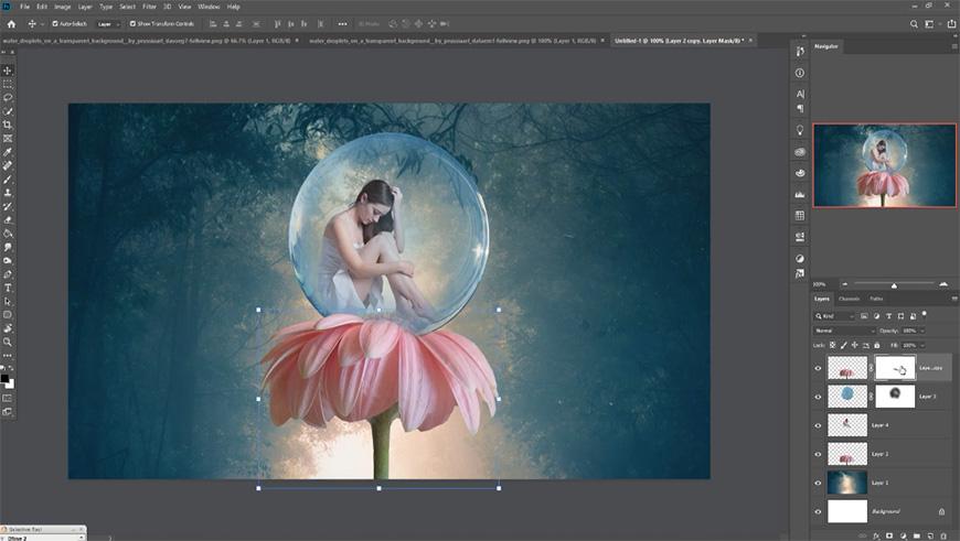 PS教程!梦中的花朵姑娘场景合成!(含素材下载)