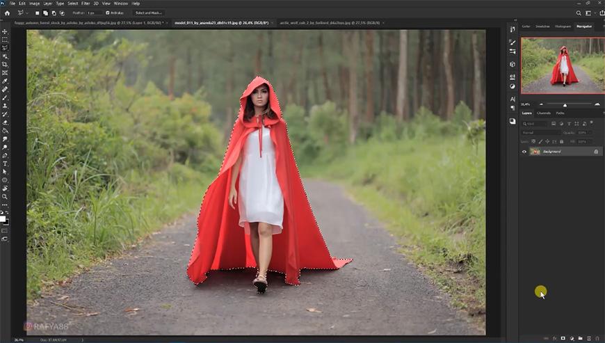 PS教程!森林中的小红帽奇幻场景合成(含素材下载)