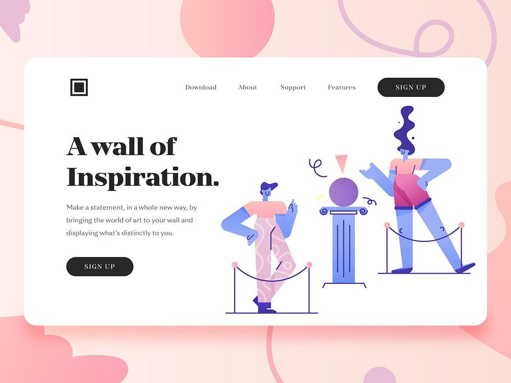 12张色彩艳丽的网页设计灵感