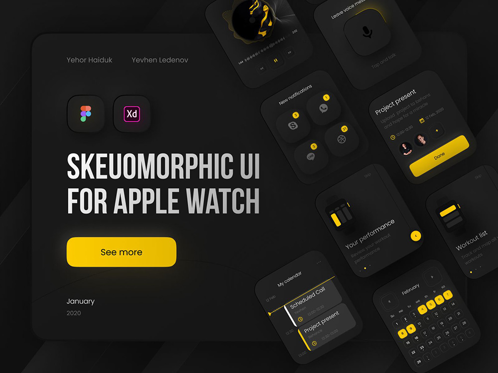 12款Neumorphism新拟物化控件设计