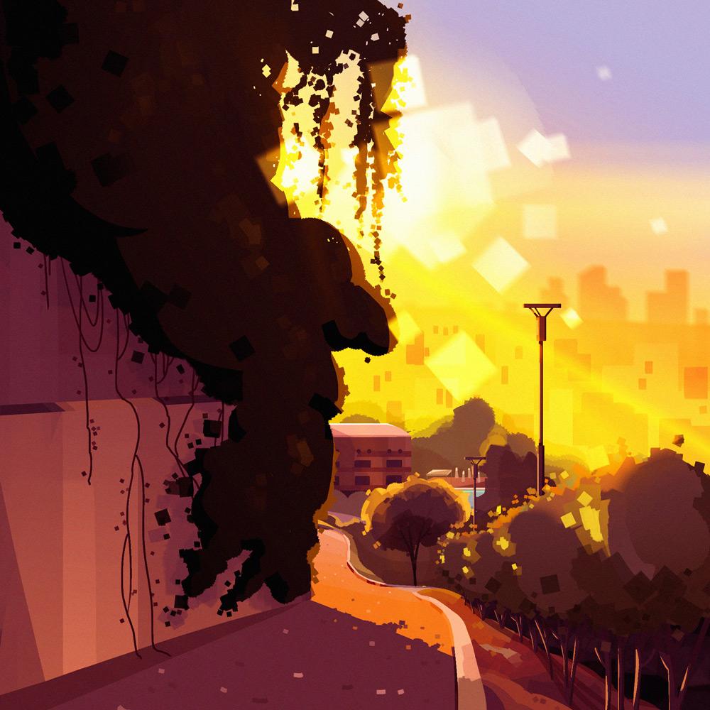 色彩艳丽!18款景观质感插画