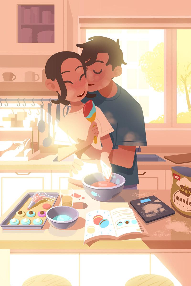 青年故事!10款温暖治愈的插画分享