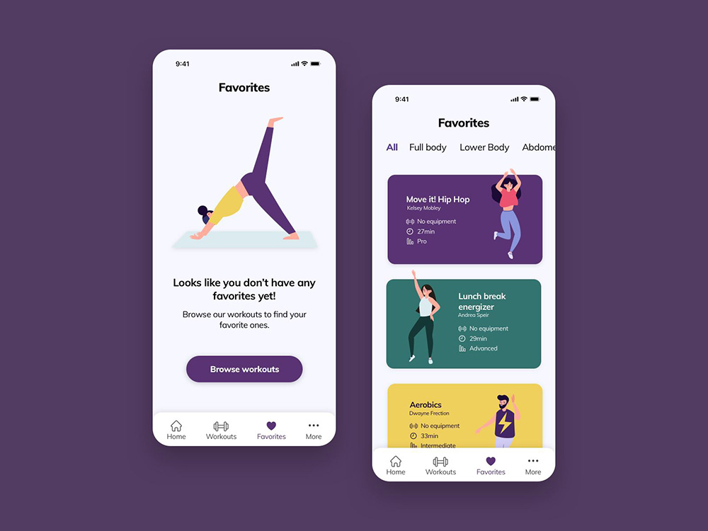 12组运动健身APP页面设计