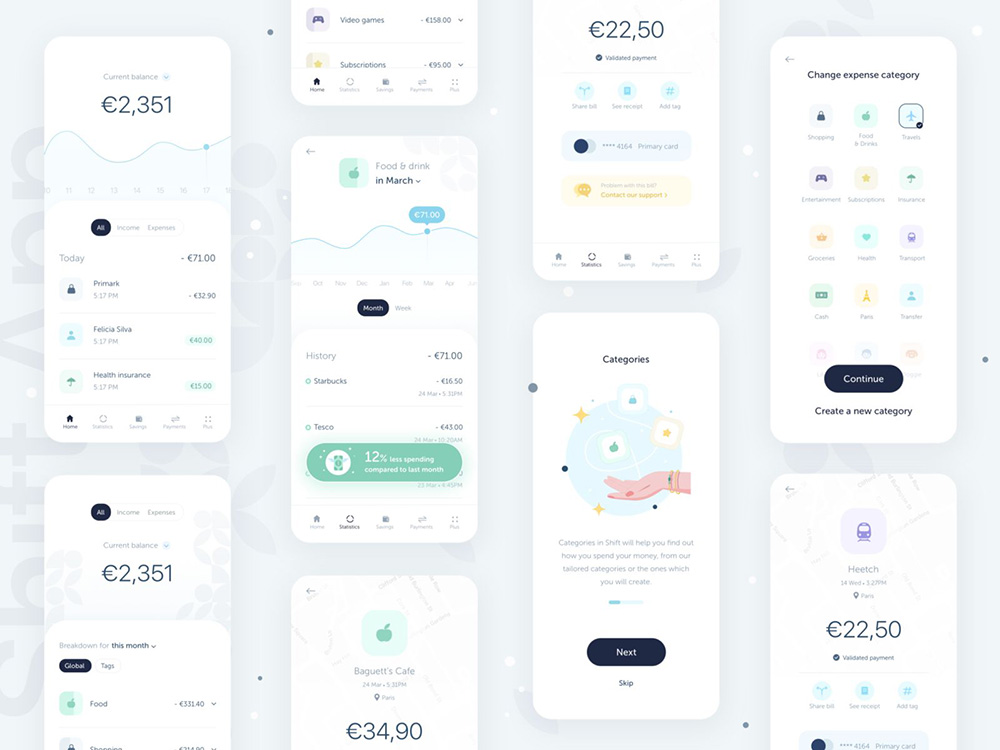 12组金融银行类App界面设计