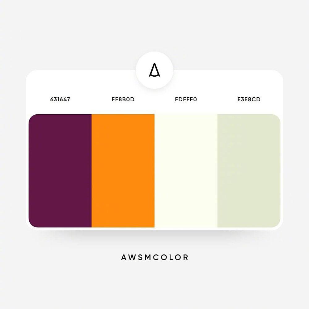 9组治愈系色彩搭配