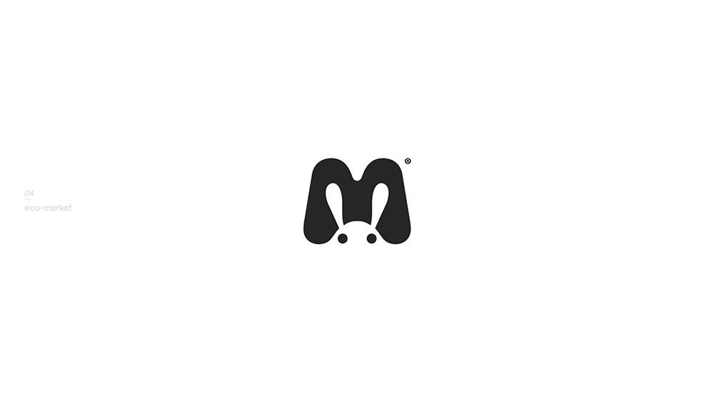 趣味创意!20款单色图形Logo设计