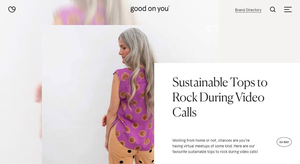 简约时尚的欧美电商Banner设计