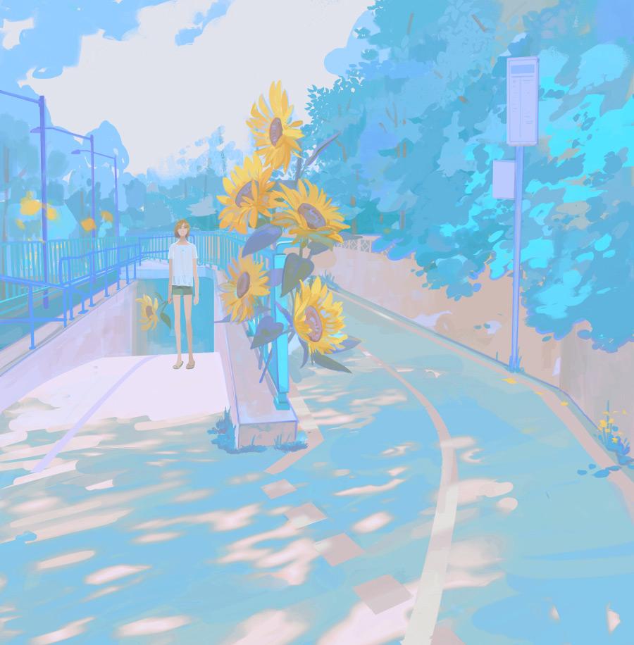 如何使用同色系绘制惊艳的人物场景插图