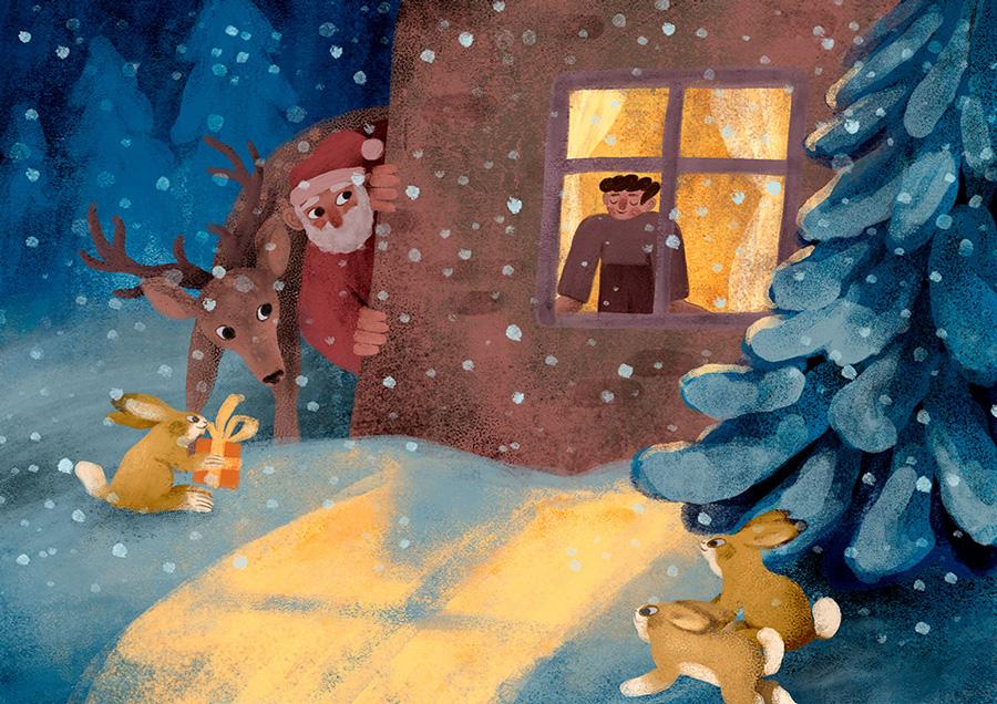 16款极具童趣的儿童故事插图