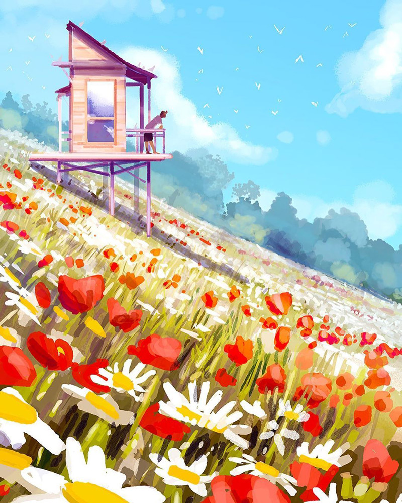 生活中的好天气!10款淡雅自然的插图作品