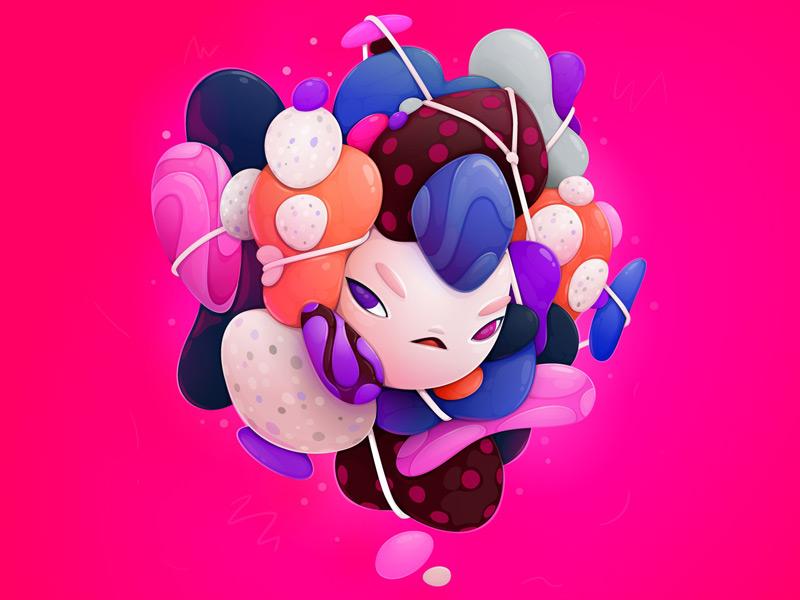 12款超可爱的果冻派插画场景
