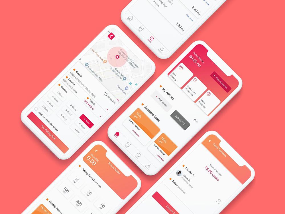 12组不同风格的钱包界面设计