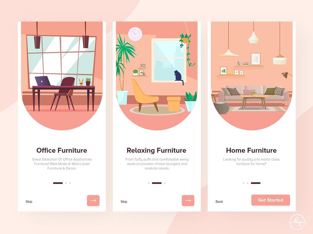 12组精致家具APP界面设计