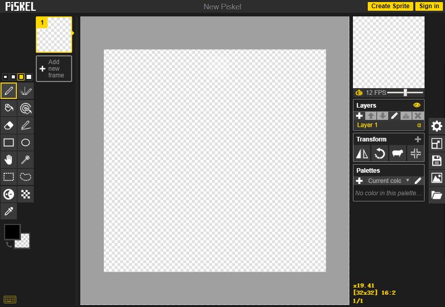 设计神器Piskel!免费在线像素GIF图制作神器
