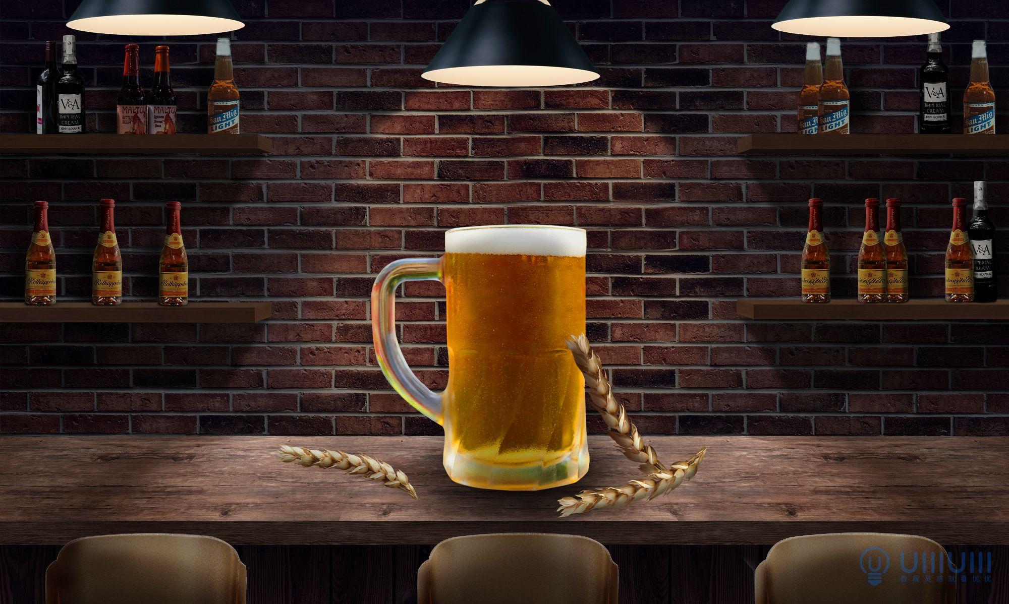 PS教程!手把手教你合成美味啤酒场景海报