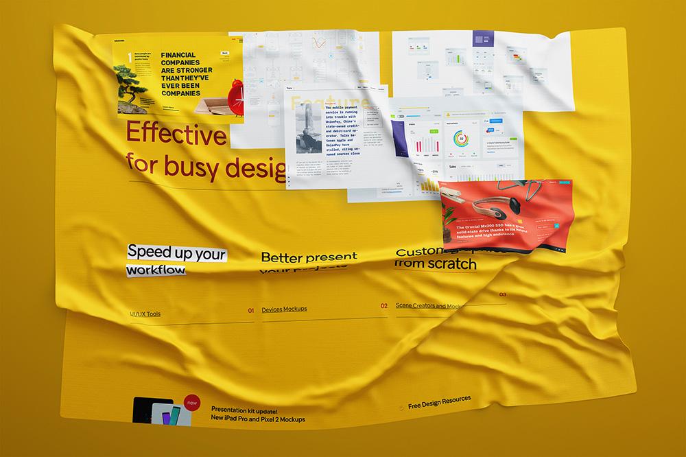 6组褶皱布料和纸张模板!给你的作品加上真实质感