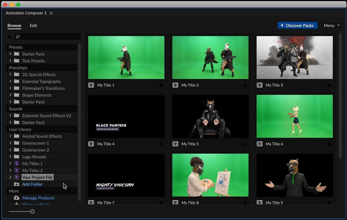 免费插件Composer!视频剪辑必备的 Ae、Pr 预设合集插件