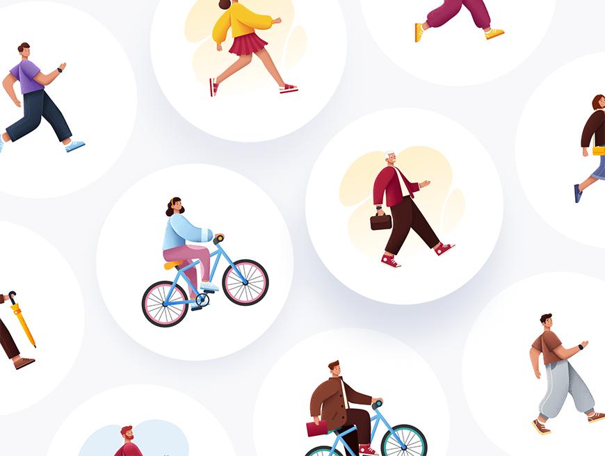 设计神器Sapiens!在线生成3000+矢量风格场景插画