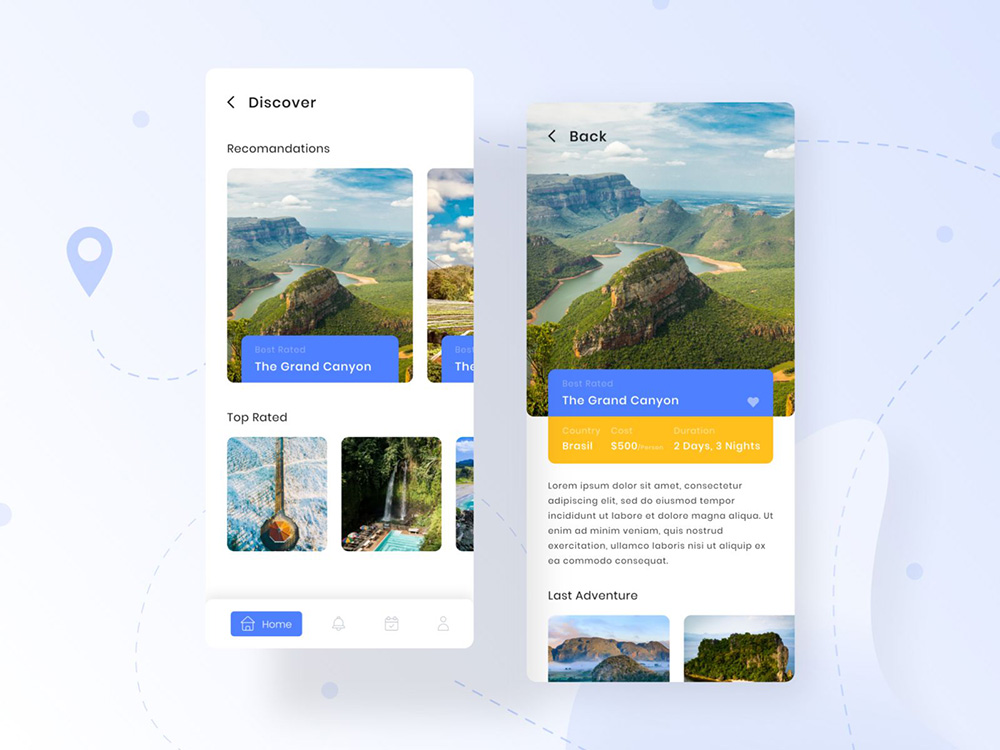 12组旅行界面设计灵感