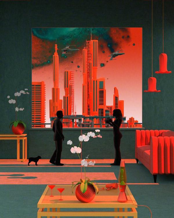 超现实主义!视觉艺术家 Tishk Barzanji 的色彩空间插图