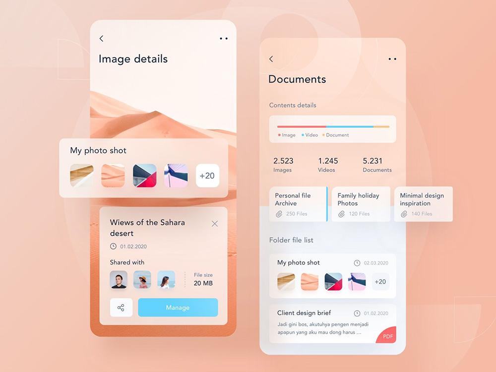 12组文件管理App界面设计灵感