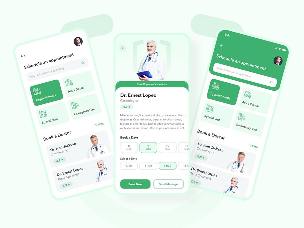 12组医疗应用APP界面设计灵感