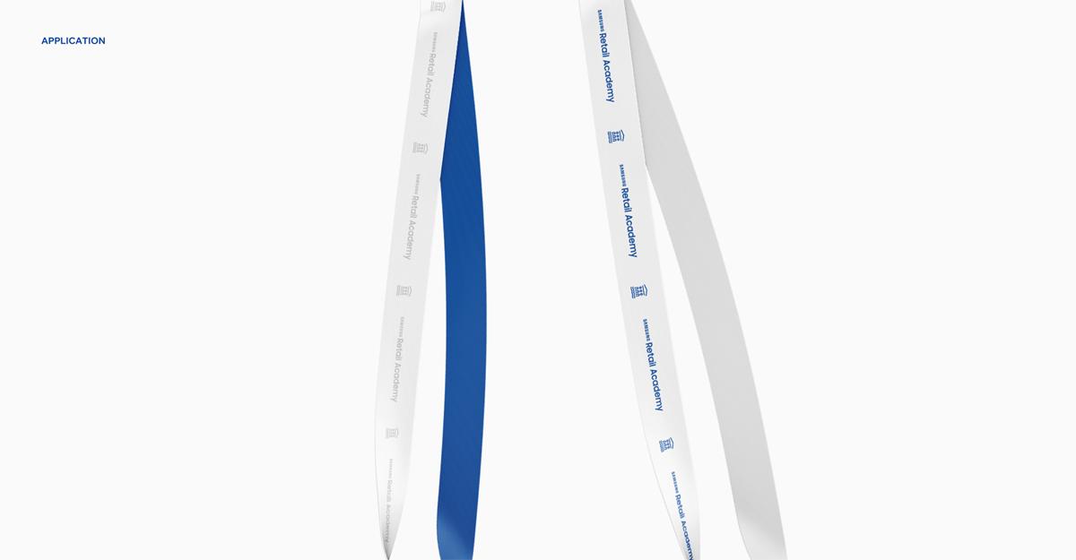 简洁白蓝!零售学院品牌VI设计