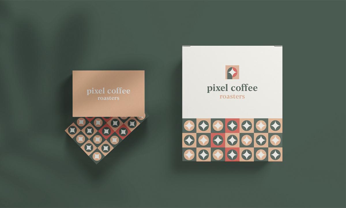优雅红与绿!咖啡品牌VI设计