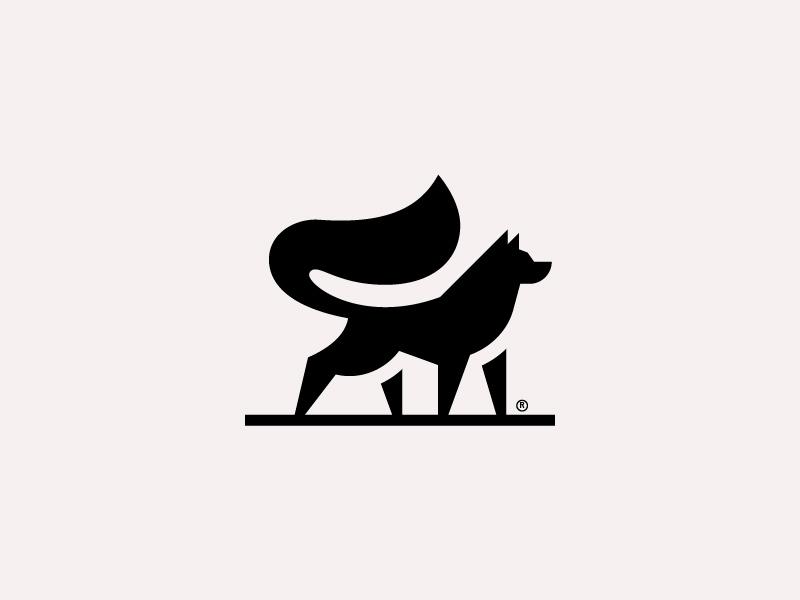 极简生动!20款可爱动物Logo设计