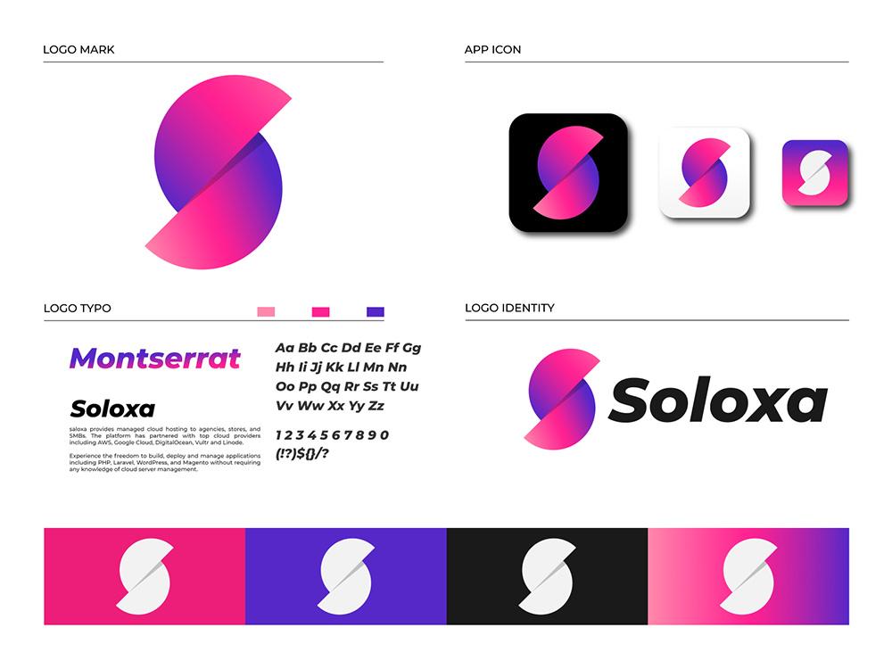 时尚渐变!16款简约力量Logo设计