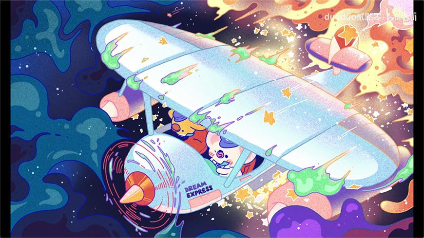 Procreate速剪!色彩丰富的插画绘画过程
