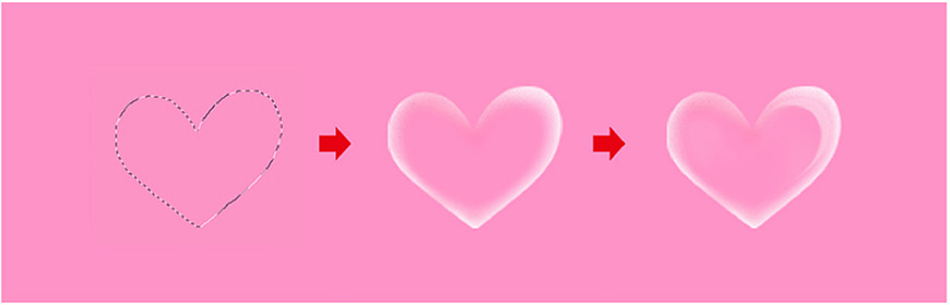 AI+PS教程!表白专用浪漫字效设计