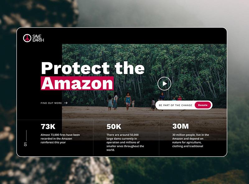 一组感染力强的环境保护主题banner
