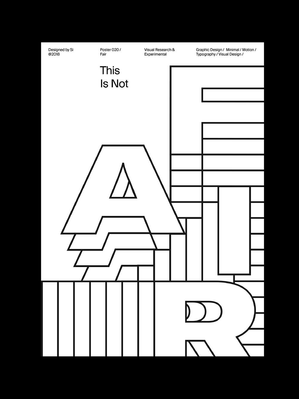 Si Tran创意字体海报设计