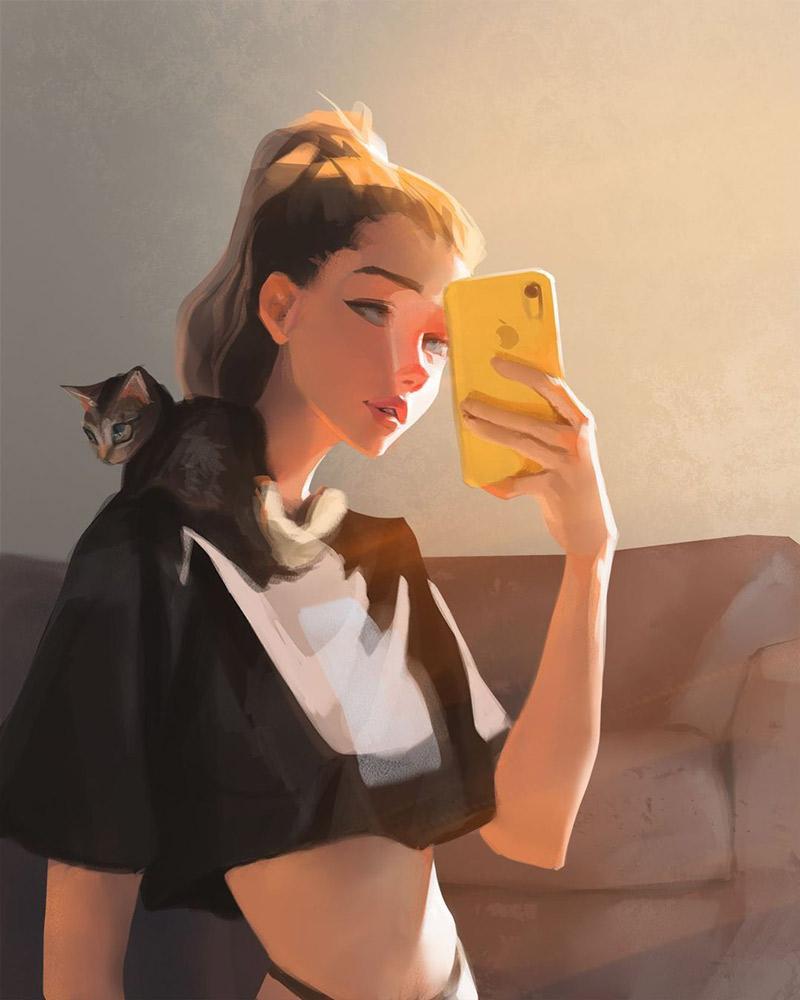 朦胧的色调!16款温柔的女生肖像