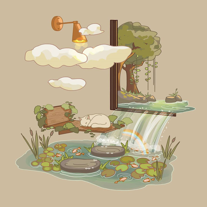 满满的生命力!复古色生态景观插图