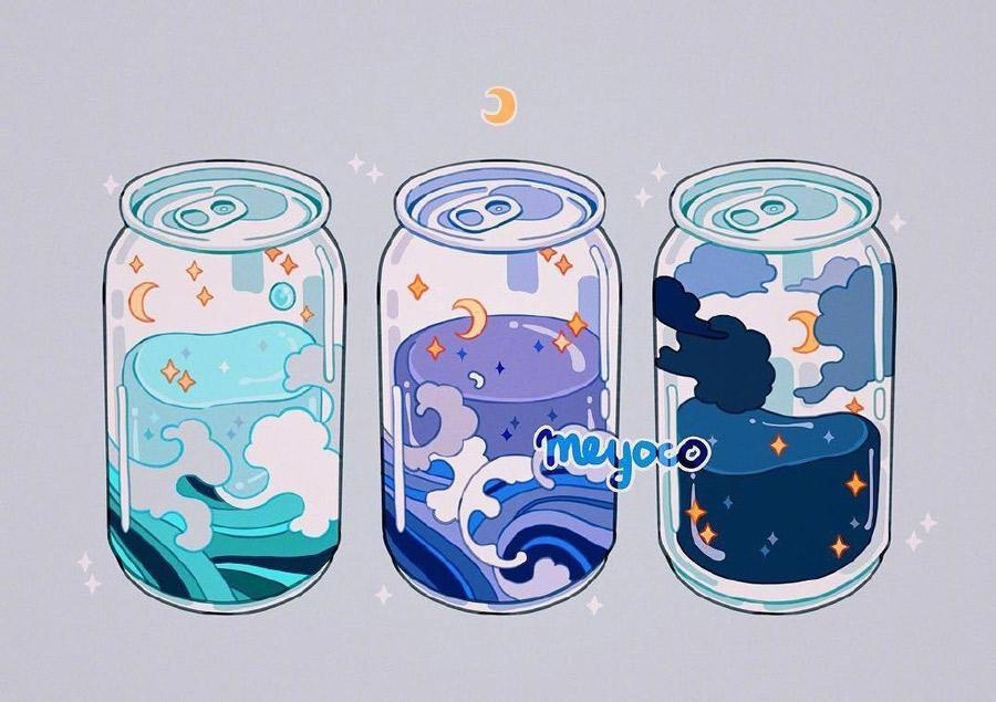 秋天的第一杯奶茶!meyoco 的系列奶茶饮料插画