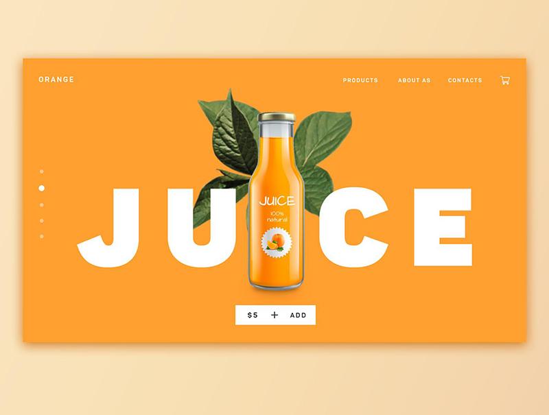 充满夏日气息的果汁BANNER