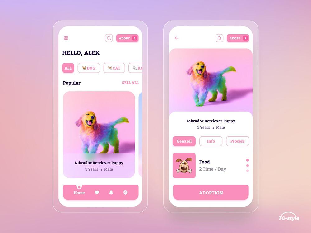 12组宠物主题App界面设计