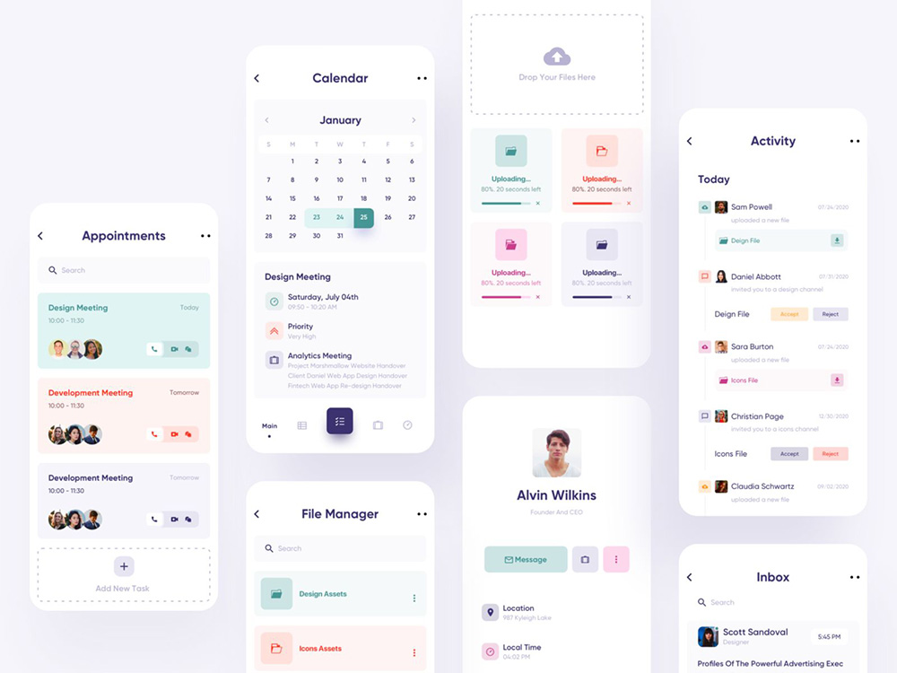 12组任务管理App界面设计